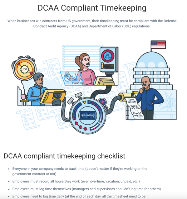 DCAA Compliant Timekeeping