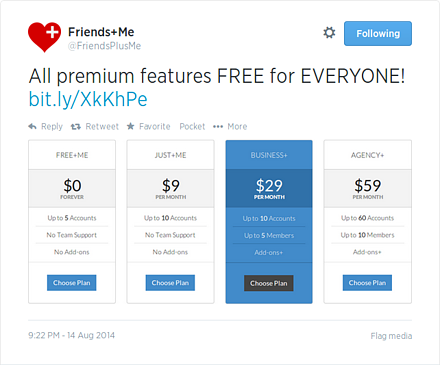 Twitter repost - All premium features FREE for EVERYONE