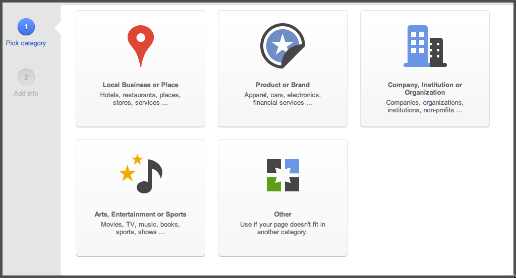 Google+ Pages overview