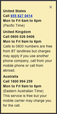 Helpout phone numbers