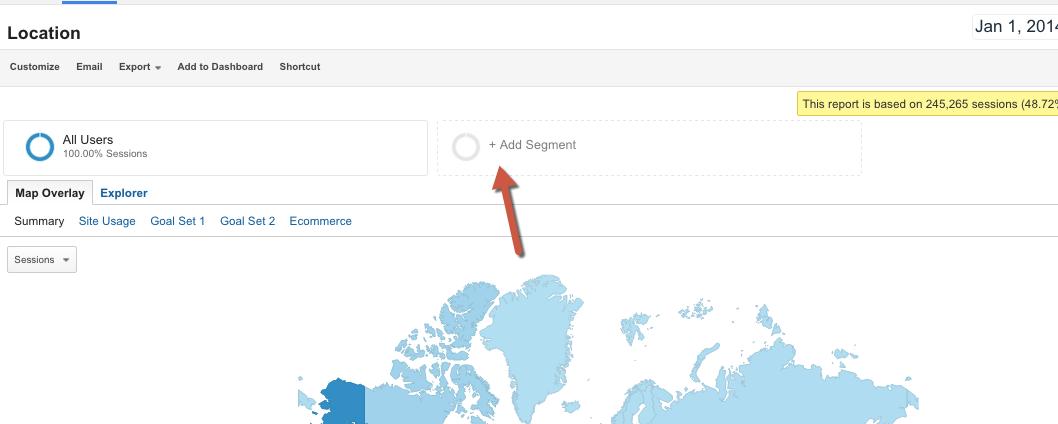 How to add segments in Google Analytics 1