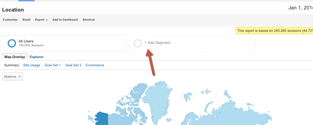 How to add segments in Google Analytics 1