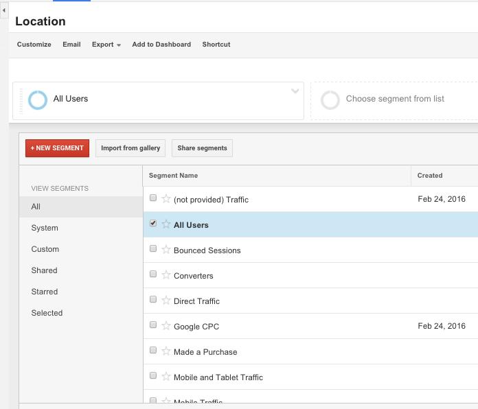 How to add segments in Google Analytics 2