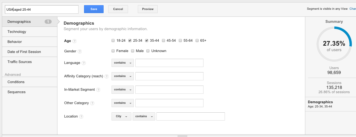 How to add segments in Google Analytics 3