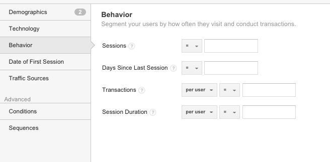 How to add segments in Google Analytics 5
