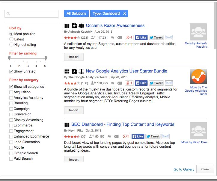 How to create a custom dashboard in Google Analytics 2