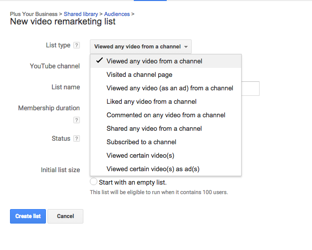 How to remarket to your youtube audience 3