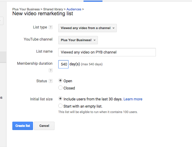 How to remarket to your youtube audience 4