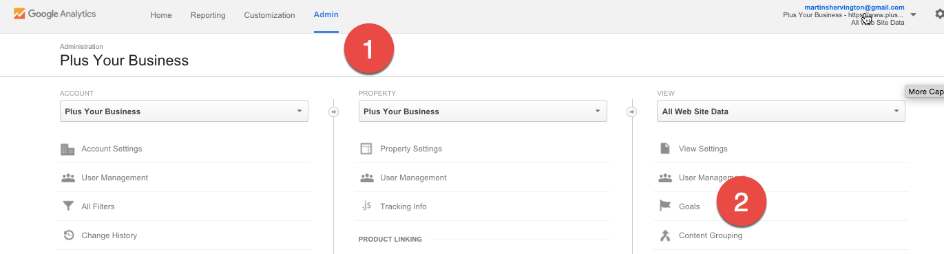 How to setup Conversion Tracking and Goals in Google Analytics 1