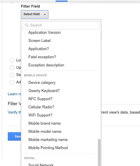 How to setup custom filters in Google Analytics 2