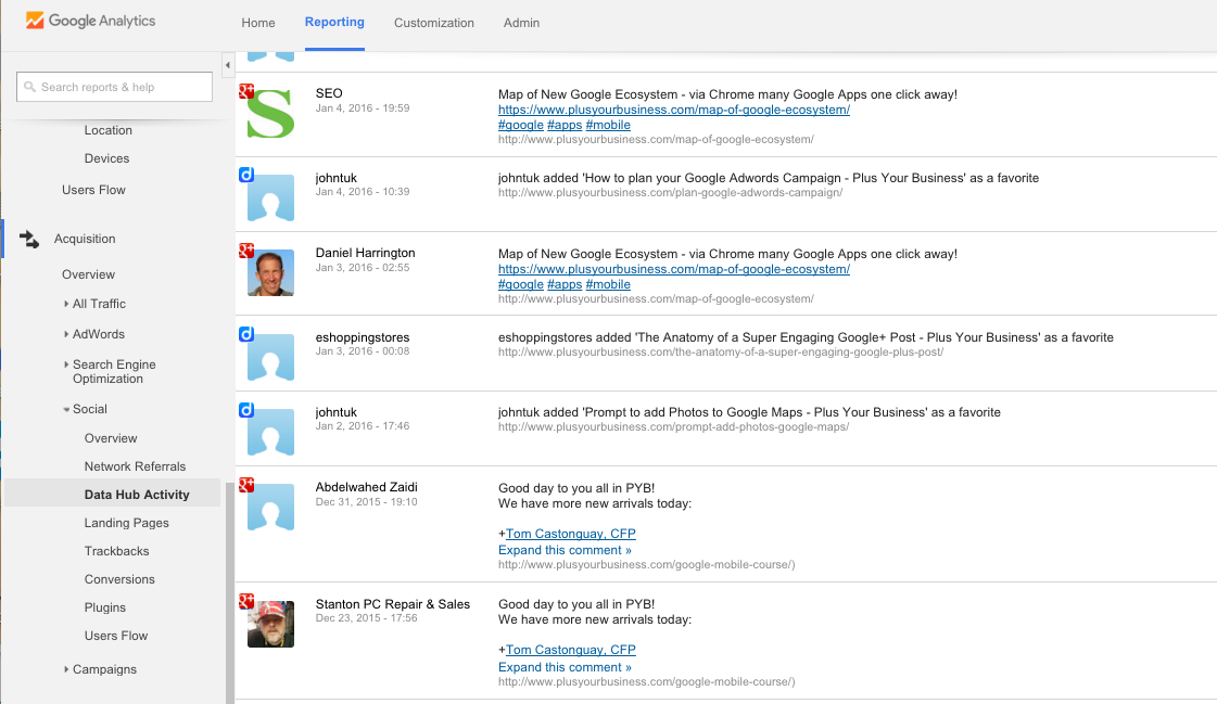 How to use Social Reports in Google Analytics 5