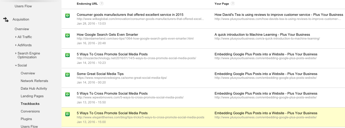 How to use Social Reports in Google Analytics 7