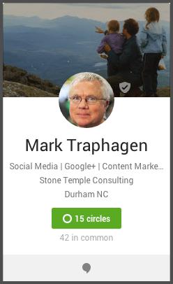 Mark Traphagen hover card