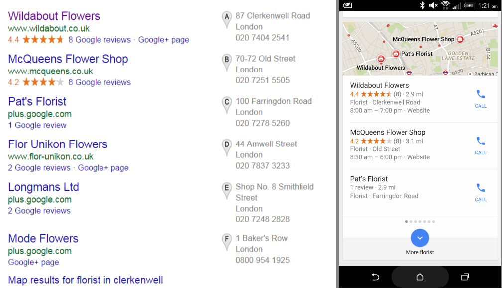 Local Mobile Search and the Importance of Google My Business