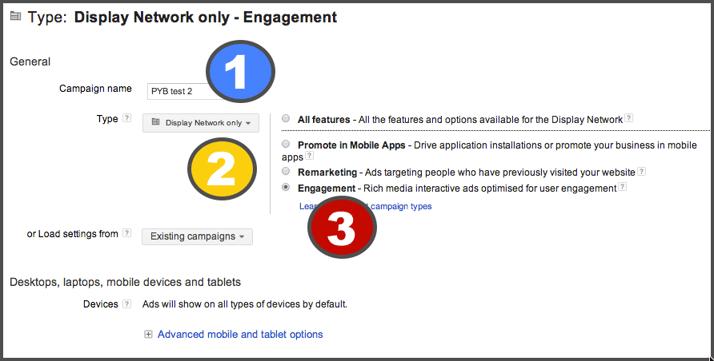 Step 2 - choose 'engagement'