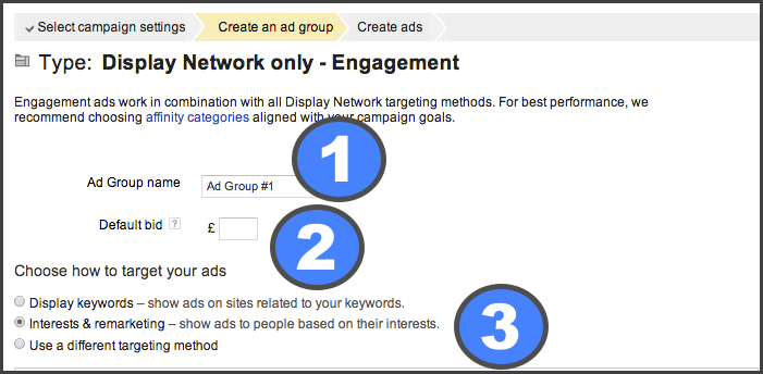 Step 3 Create and ad group