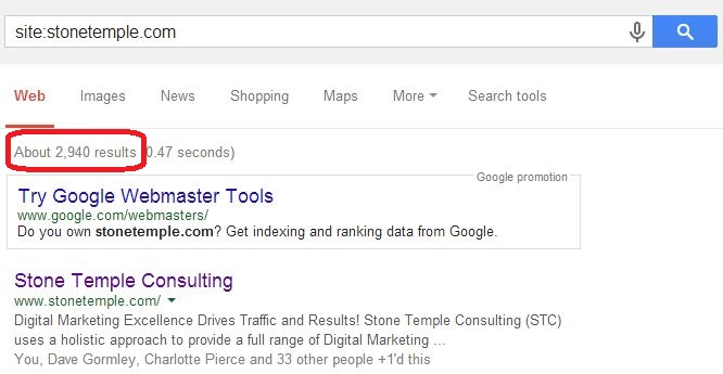 Example Site Query Search Result