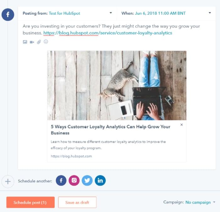hubspot-social-media-tool