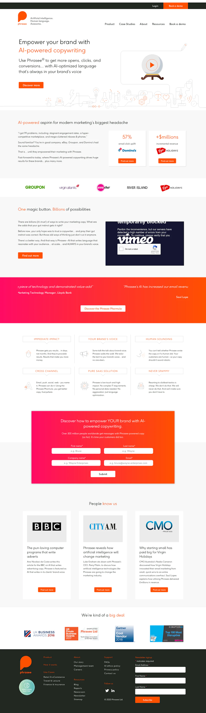 visuals in landing pages 3